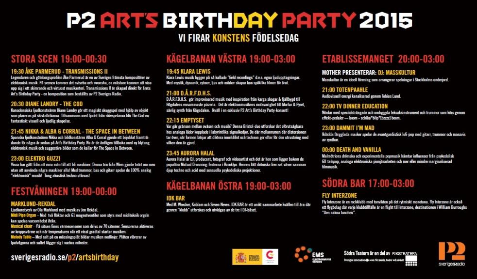 art's bthday party